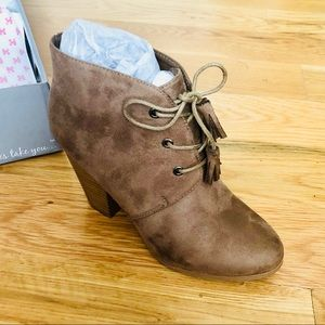 NWT Taupe Booties